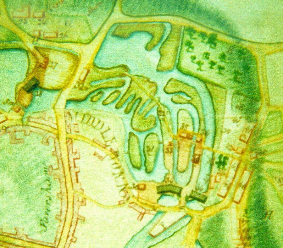 1822 plan of Stonebridge Pond