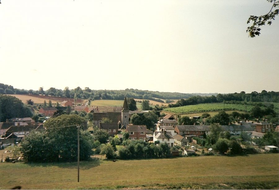 Newnham from Sharsted ridge